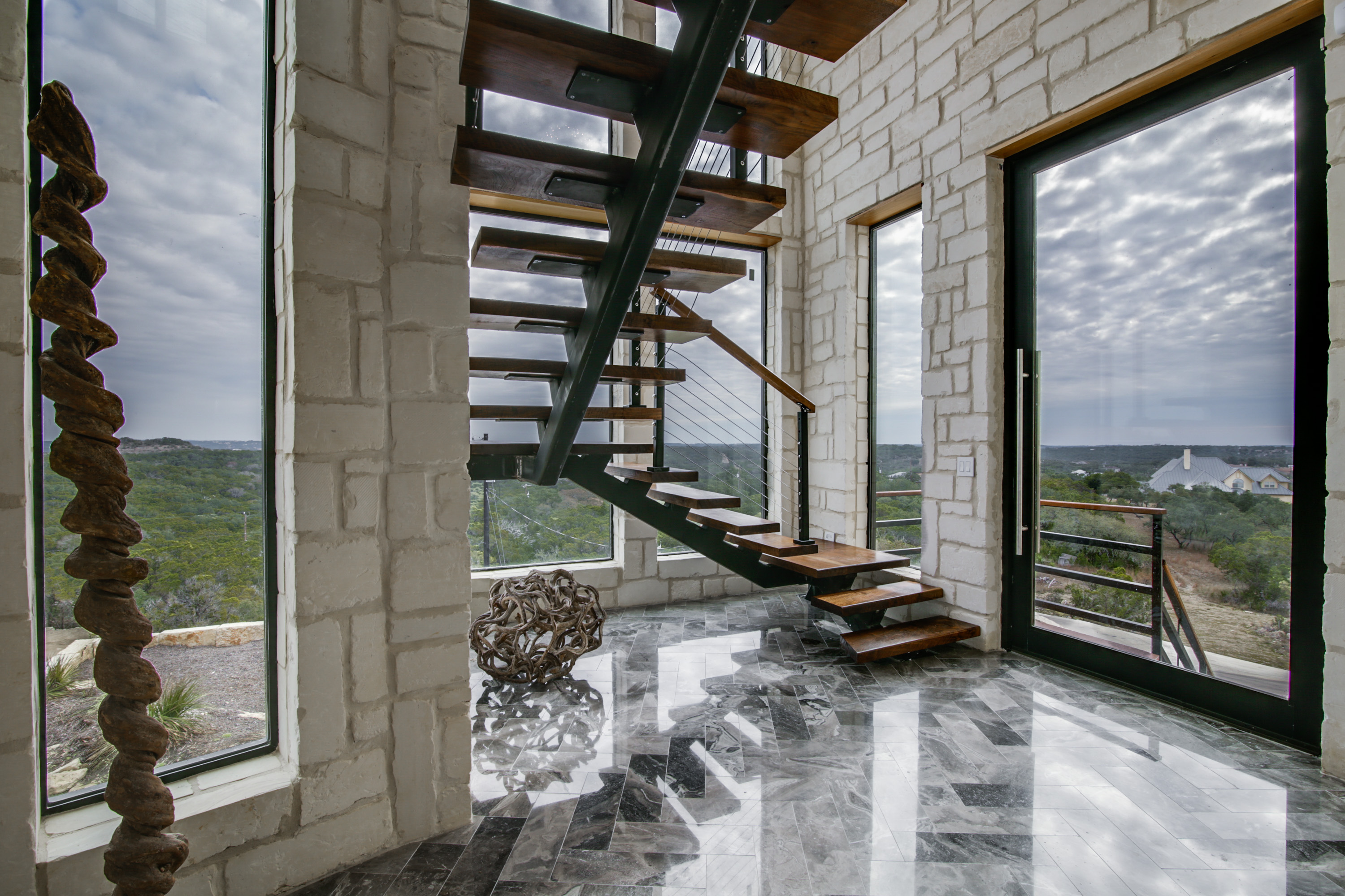 a texas hill country take on contemporary housing
